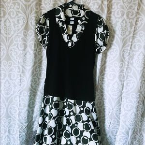 NWT Maurices black and white dress